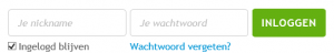 50plusmatch.be inlogscherm