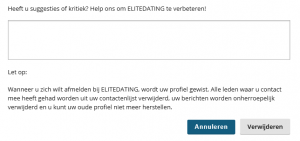Elite Dating opzeggen definitief