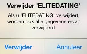 Elitedating app verwijderen definitief iOS