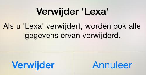 Lexa verwijderen iphone