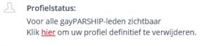 gayPARSHIP profiel definitief verwijderen link