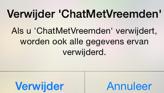 Chat met vreemden app verwijderen iOS