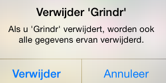 Grindr app definitief verwijderen va iOS