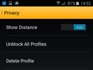 Grindr privacy