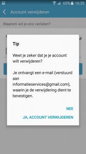 Lovoo app definitief account verwijderen