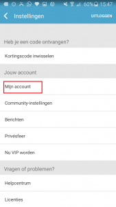 Lovoo mijn account