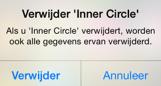 The inner Circle app ios Verwijderen definitief