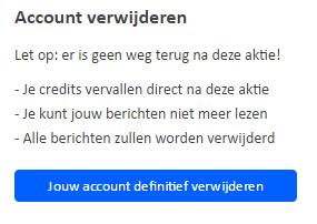 discretecontacten account verwijderen
