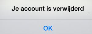 hot or not account verwijderd