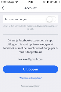 hot or not account verwijderen
