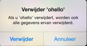 ohello app deactiveren iphone