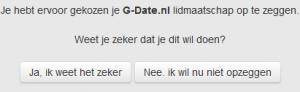 G-Date account verwijderen