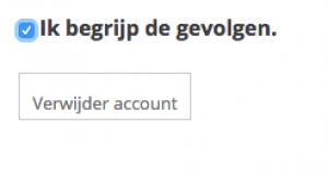 Burble account definitief verwijderen