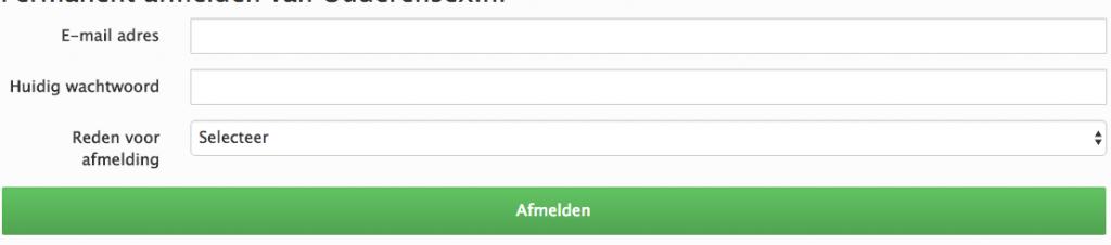 Ouderensex.nl definitief opzeggen